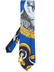 Versace Vintage Psyche And Cupid Print Tie Multicolour