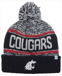 Top Of The World Washington State Cougars Acid Rain Pom Knit Hat Heather Gray Black Red