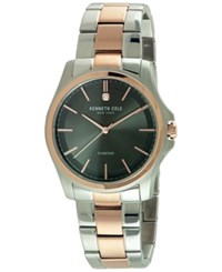 Kenneth Cole New York Men's Diamond Accent Two Tone Stainless Steel Bracelet Watch 44Mm 10027880