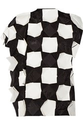 Junya Watanabe Appliqued Shell And Faux Patent Leather Top Black