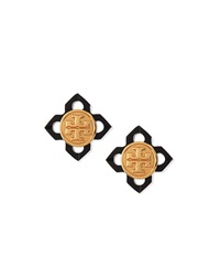 Babylon Resin Logo Stud Earrings Tory Burch