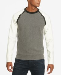Kenneth Cole New York Men's Colorblocked Stretch Sweater Flannel Heather