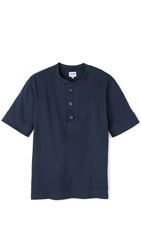 United Stock Dry Goods Jersey Baseball Shirt Navy