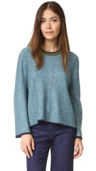 3.1 Phillip Lim Long Sleeve Crew Neck Sweater Ocean Blue