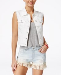 American Rag White Wash Denim Vest Only At Macy's