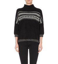 French Connection Twinkle Fairisle Knitted Jumper Black