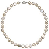 A B Davis Baroque River Pearls Magnetic Clasp Necklace White