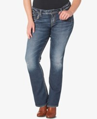 Silver Jeans Co. Plus Size Suki Medium Wash Bootcut Indigo