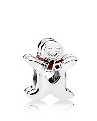 Pandora Design Charm Sterling Silver And Red Enamel Sweet Gingerbread Moments Collection