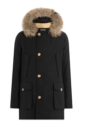 Woolrich Arctic Down Parka With Fur Trimmed Hood Black