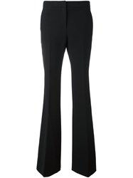 Burberry Pleated Slim Fit Flared Trousers Black