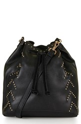 Topshop Drawstring Faux Leather Bucket Bag