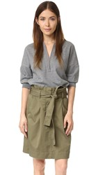 3.1 Phillip Lim Dress With Utility Skirt Olive