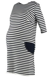 Madderson Hannah Jersey Dress Breton Navy White