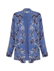 Yumi Palm Tree Blazer Blue