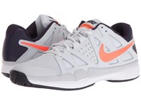 Nike Air Vapor Advantage Pure Platinum Total Crimson Purple Dynasty Men's Tennis Shoes White