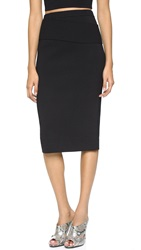 Dion Lee Line Ii Density Knit Skirt Black