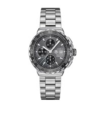 Tag Heuer Formula 1 Three Chronograph Watch Unisex Silver