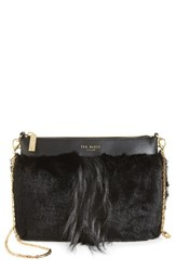 Ted Baker London Barbera Faux Fur Crossbody Bag