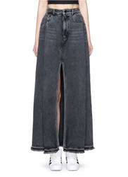 Alexander Wang Deconstructed Denim Maxi Skirt Black