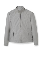 Mango Textured Jacket Grey