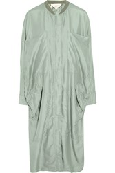 Stella Mccartney Turner Oversized Silk Voile Jacket Green