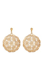Philippe Audibert 'Lacey' Floral Cutout Drop Earrings Metallic