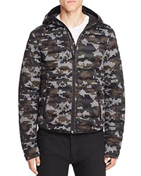 Moose Knuckles Quilted Down Hoodie Jacket Camo