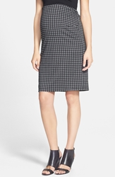 Maternal America Pencil Maternity Skirt Houndstooth