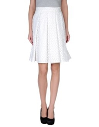 J.W.Anderson Knee Length Skirts White