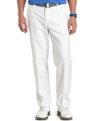 Izod Men's Belted Oxford Pants Bright White