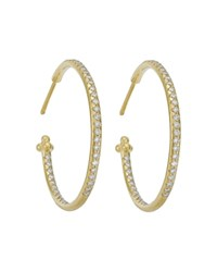 Temple St. Clair Pave Hoop Earrings In 18K Yellow Gold 1.57 Ct. T.W. White Gold