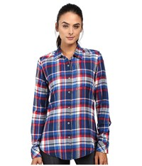 Kavu Georgia Americana Women's Long Sleeve Button Up Multi