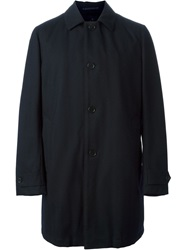 Aspesi Single Breasted Coat With Padded Lining Blue