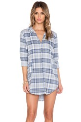 Cp Shades Teton Button Up Tunic Blue