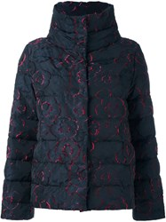 Etro Stand Collar Padded Jacket Blue