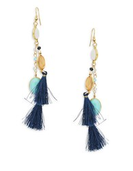 Panacea Stone Tassel Drop Earrings Multi Colored