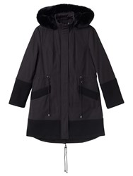 Precis Petite Imogen Hooded Parka Coat Black