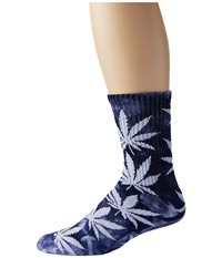 Huf Tie Dye Plantlife Sock Navy Crew Cut Socks Shoes
