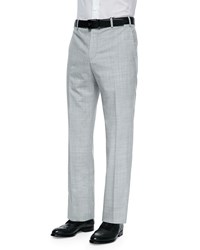 Zanella Parker Tropical Weight Wool Trousers Light Gray Men's