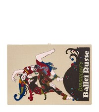 Olympia Le Tan Ballet Russe Book Clutch Female