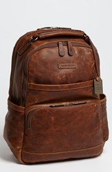 Frye 'Logan' Leather Backpack Cognac