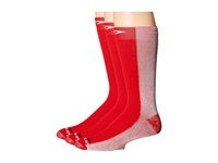 Drymax Sport Cold Weather Run Crew 3 Pair Pack Red Crew Cut Socks Shoes