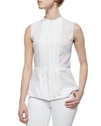 Tory Burch Sleeveless Pleated Front Shell