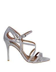 E Live From The Red Carpet Oval Open Toe Sandals Silver