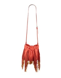 Steve Madden Barbey Fringed Faux Leather Crossbody Coral