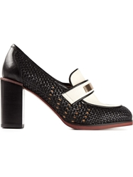 See By Chloe Woven Design Pumps Black