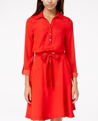Xoxo Juniors' Drawstring Waist Henley Shirtdress