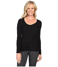 Icebreaker Siren Long Sleeve Sweetheart Black Women's Clothing