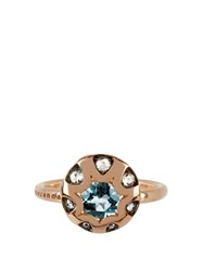 Selim Mouzannar Diamond Aquamarine And Gold Mille Et Une Nuit Ring Pink Gold